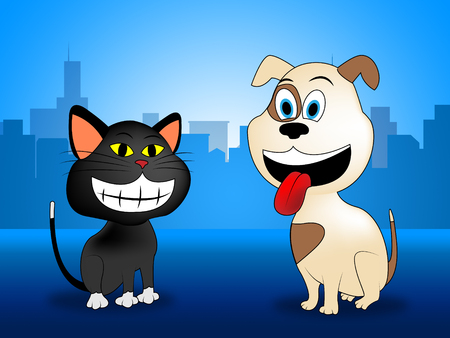 domestic animal: Happy Pets Showing Domestic Animal And Felines