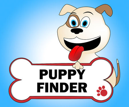 Puppy Finder Representing Search For And Dogs