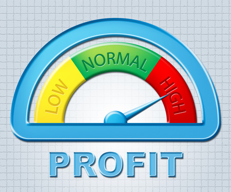 profiting: High Profit Showing Investment Growth And Excess