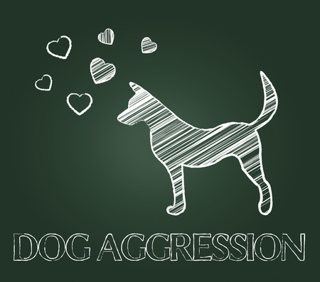 aggression: Dog Aggression Showing Attack Hostile And Pet