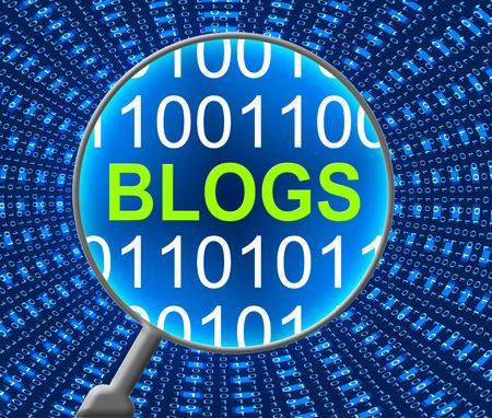 Online blogs met een website en computergebruik