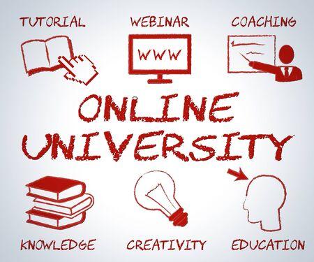 establishment: Online University Showing Educational Establishment And Www
