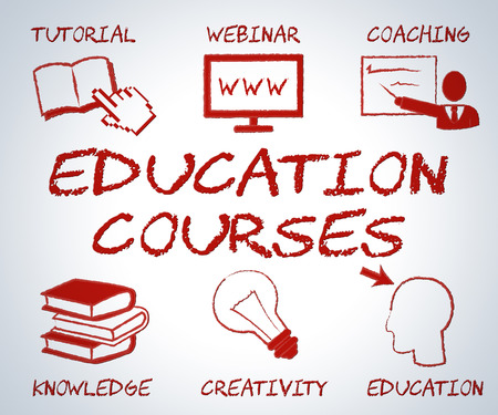 web courses: Education Courses Showing Web Site And Online Learning