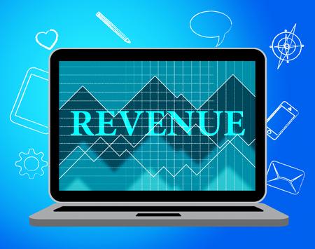 Revenue Computer Representing Web Site And Laptop