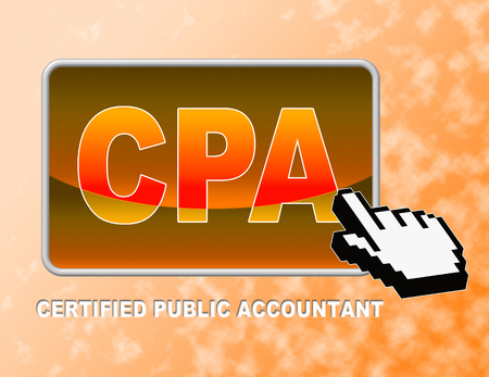 cpa: Cpa Button Indicating Certified Public Accountant And Web Site Stock Photo