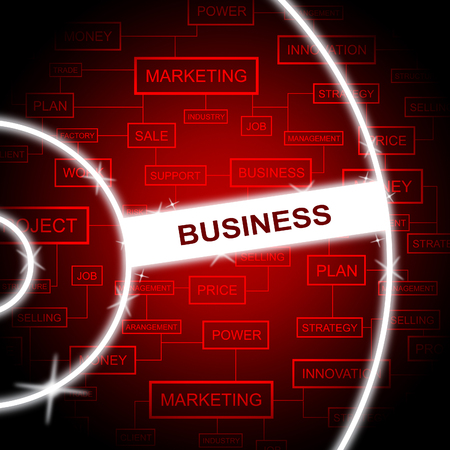 business words: Business Words Meaning Company Commerce And Businesses Stock Photo