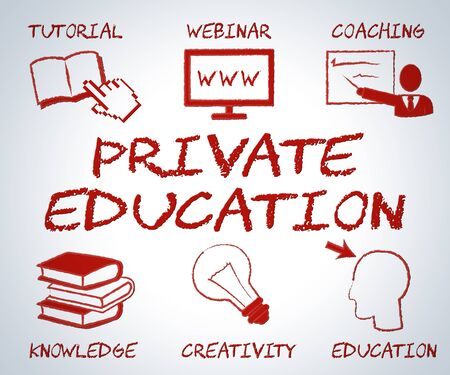 non: Private Education Indicating Non Government And Learning Stock Photo