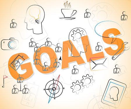 intent: Business Goals Representing Inspiration Targets And Objectives Stock Photo