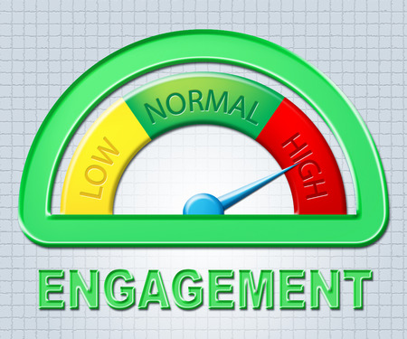 engaged: High Engagement Showing Engaged Indicator And Measure