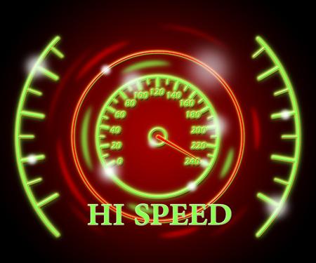 speeding: Hi Speed Showing Meter Speeding And Rushing
