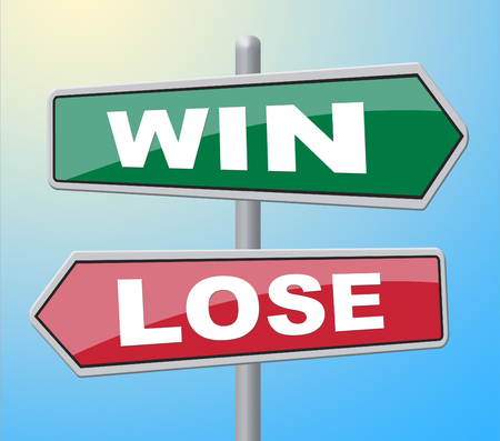fails: Win Lose Meaning Fails Placard And Victorious