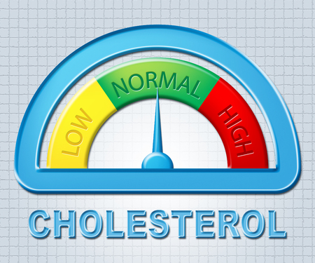 normal: Normal Cholesterol Meaning Hyperlipidemia Cholesterin And Usual Stock Photo