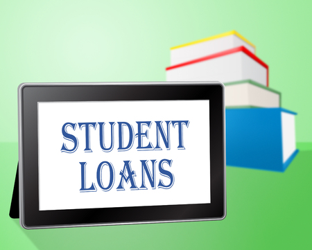 borrowing: Student Loans Meaning Advance Borrowing And Credit Stock Photo