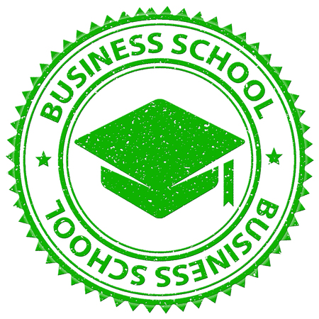 biz: Business School Showing Commerce Study And Educated