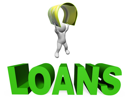 lending: Loan Finance Showing Credit Advance And Borrow 3d Rendering Stock Photo