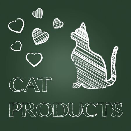 puss: Cat Products Indicating Pet Pedigree And Puss