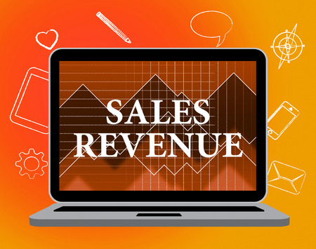 Sales Revenue Indicating Salary Offer And Promotional