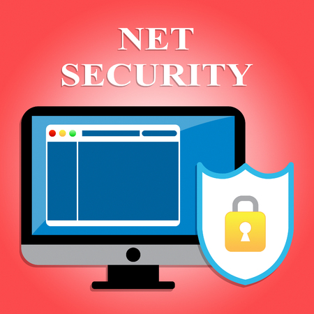 secure site: Net Security Meaning Protected Web Site And Forbidden Stock Photo