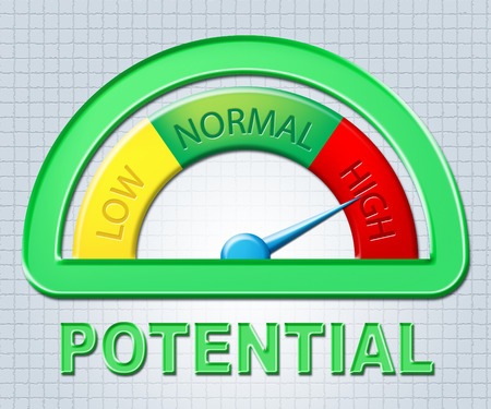 adeptness: High Potential Indicating Maximum Higher And Competence Stock Photo