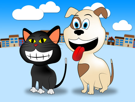 felines: Town Pets Representing Domestic Cat And Felines