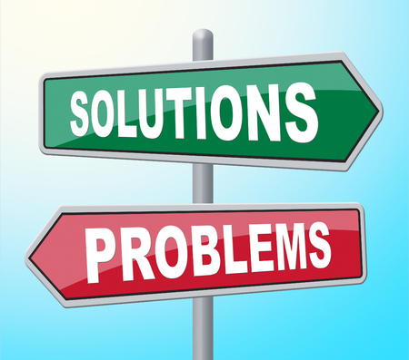 obstacles: Solutions Problems Indicating Having Success And Obstacles Stock Photo