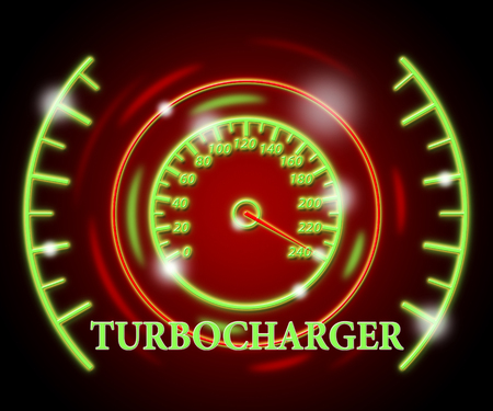 turbocharger: Turbocharger Gauge Representing High Speed And Quickly