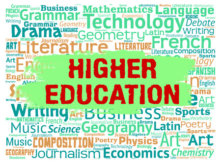 higher education: Higher Education Representing Tertiary School And Study Stock Photo