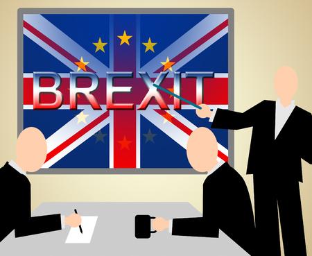 Brexit Seminar Indicating Britain Union Euroscepticism And Europe Stock Photo