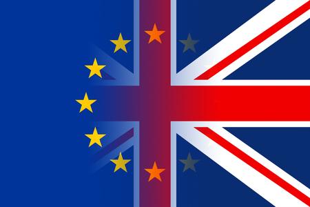 Brexit Flags Representing Patriotic Britain Euro And Patriotism Stock Photo