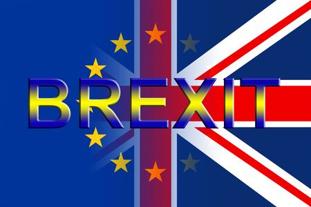 Brexit Flags Representing Britain Remain Decision And Leave