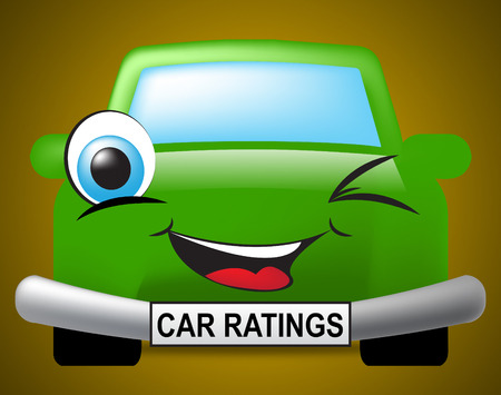 ratings: Car Ratings Showing Vehicles Auto And Ranking Stock Photo