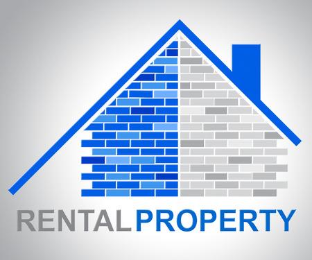 Mieteigentum, das Real Estate und Haushalt zeigt Standard-Bild