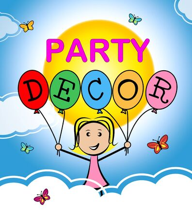 ornamentations: Party Decor Indicating Interior Decoration And Celebrate Stock Photo