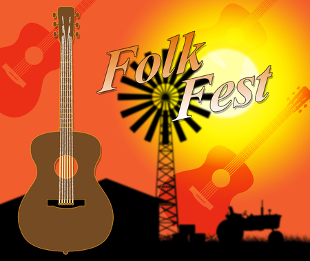fest: Folk Fest Showing Country Music And Entertainment Stock Photo