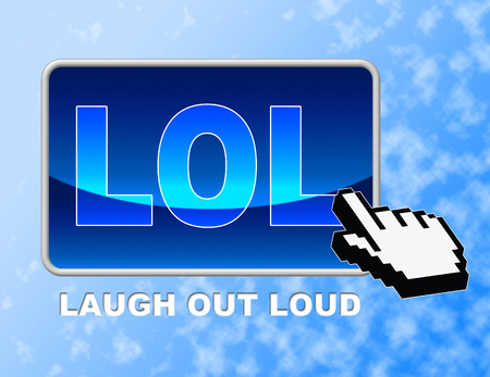 Lol Button Indicating Laugh Out Loud And Laugh Out Loud