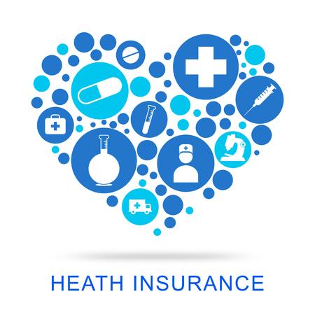 preventive medicine: Health Insurance Showing Preventive Medicine And Doctors