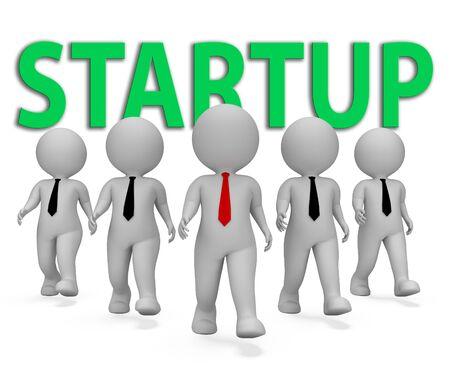self employed: Startup Businessmen Representing Self Employed And Self-Employment 3d Rendering