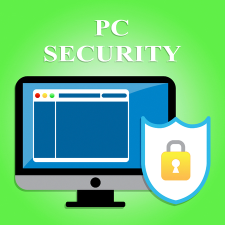 secure site: Pc Security Showing Web Site And Secure Stock Photo