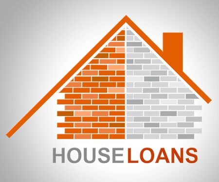 loans: House Loans Representing Homes Household And Houses