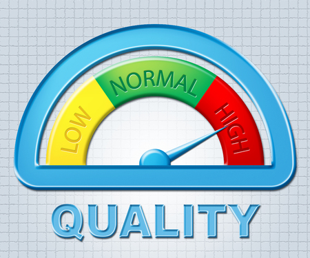 qa: High Quality Representing Higher Excess And Qa Stock Photo