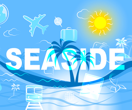 time off: Seaside Holiday Indicating Time Off And Beaches