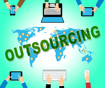outsourcing: Outsourcing Online Showing Outsourced Website And Network