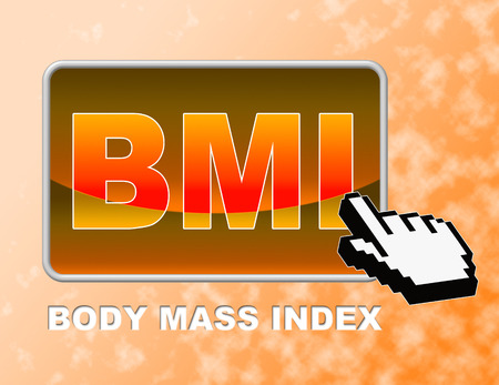BMI: Bmi Button Meaning Web Site And Searching Stock Photo