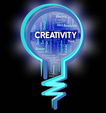 conception: Creativity Lightbulb Representing Conception Concept And Design