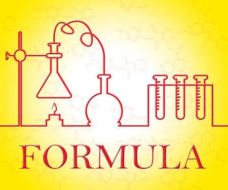 chemical formula: Chemical Formula Representing Chemicals Researching And Experiments