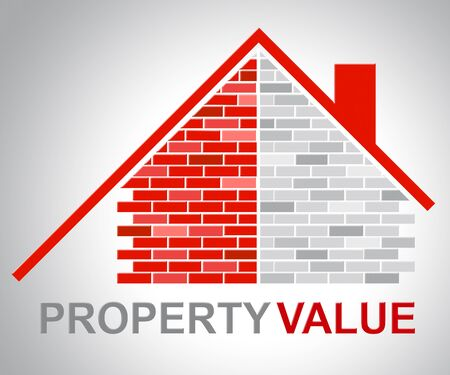 home prices: Property Value Representing Current Prices And Home Stock Photo