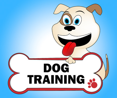 taught: Dog Training Showing Trainers Doggy And Puppy Stock Photo