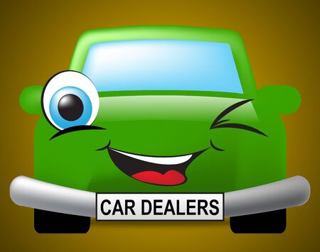 Car Dealers Showing Drive Business And Automobile