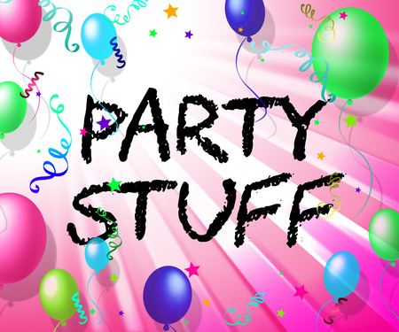 stuff: Party Stuff Showing Goods Celebrations And Decoration Stock Photo
