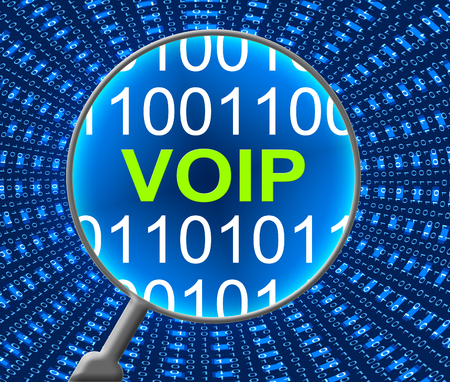 broadband: Voip Online Showing Voice Over Broadband And Voice Over Broadband Stock Photo